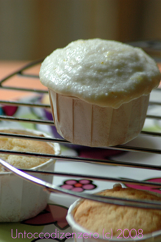 lemon goat cheese cupcake