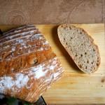 Pane pasta con lievito madre e farina buratto e farro bianco