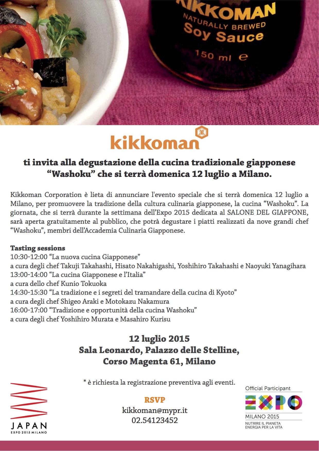 kikkoman e la cucina tradizionale giapponese washoku