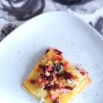 Lasagna Gluten Free con ragù di radici, barbabietola e pera madernassa e blu della Val Maira 1