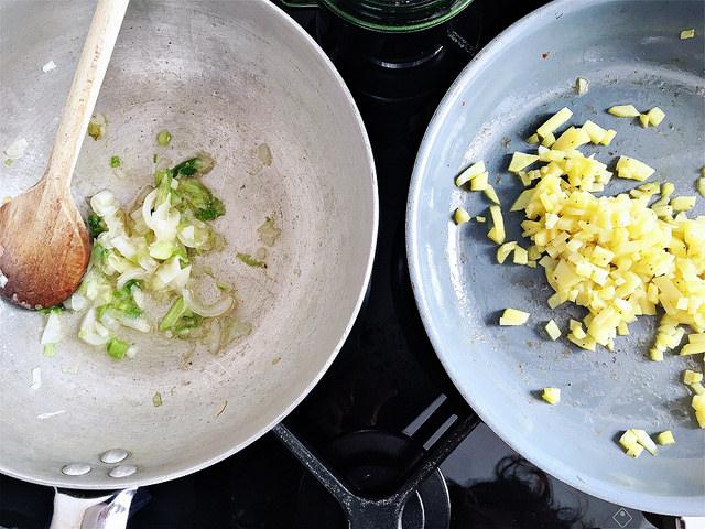 base ricetta patate cipollotto