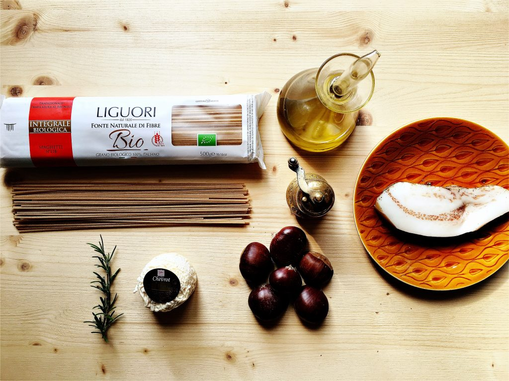 ingredienti-per-ricetta-spaghetti-integrali-liguori