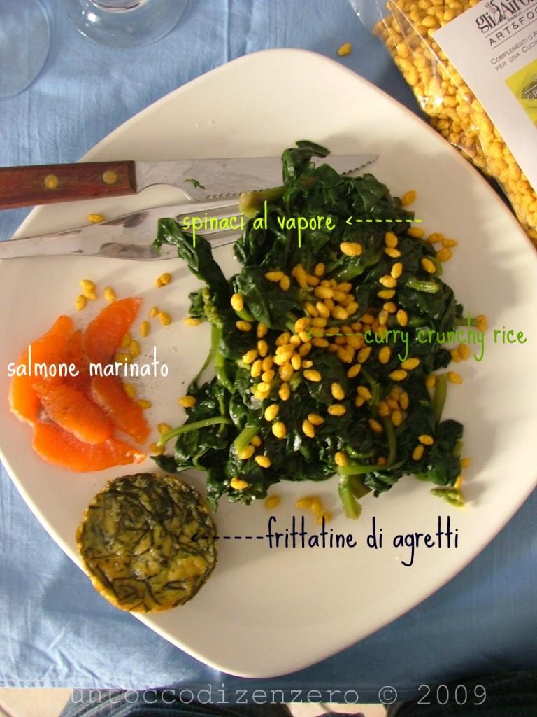 spinaci salmone frittatina