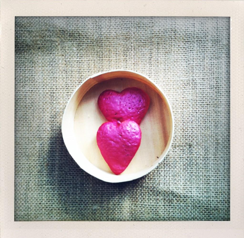 un cuore rosa!