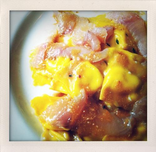 Ravioli di seirass, trota affumicata e salsa alle nocciole