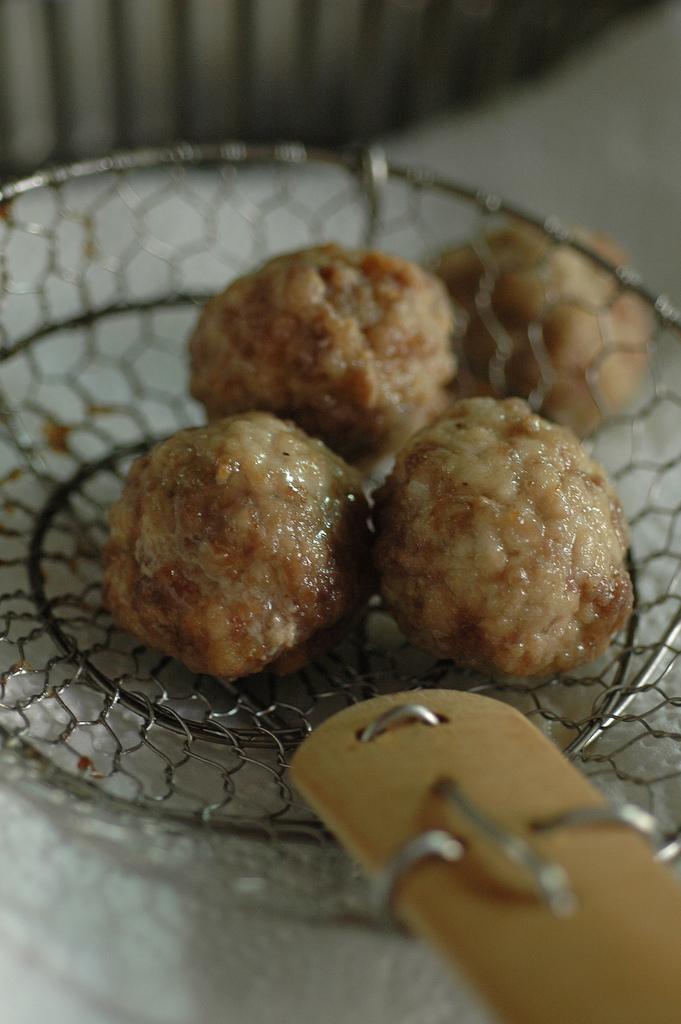 frittura polpette in carpione