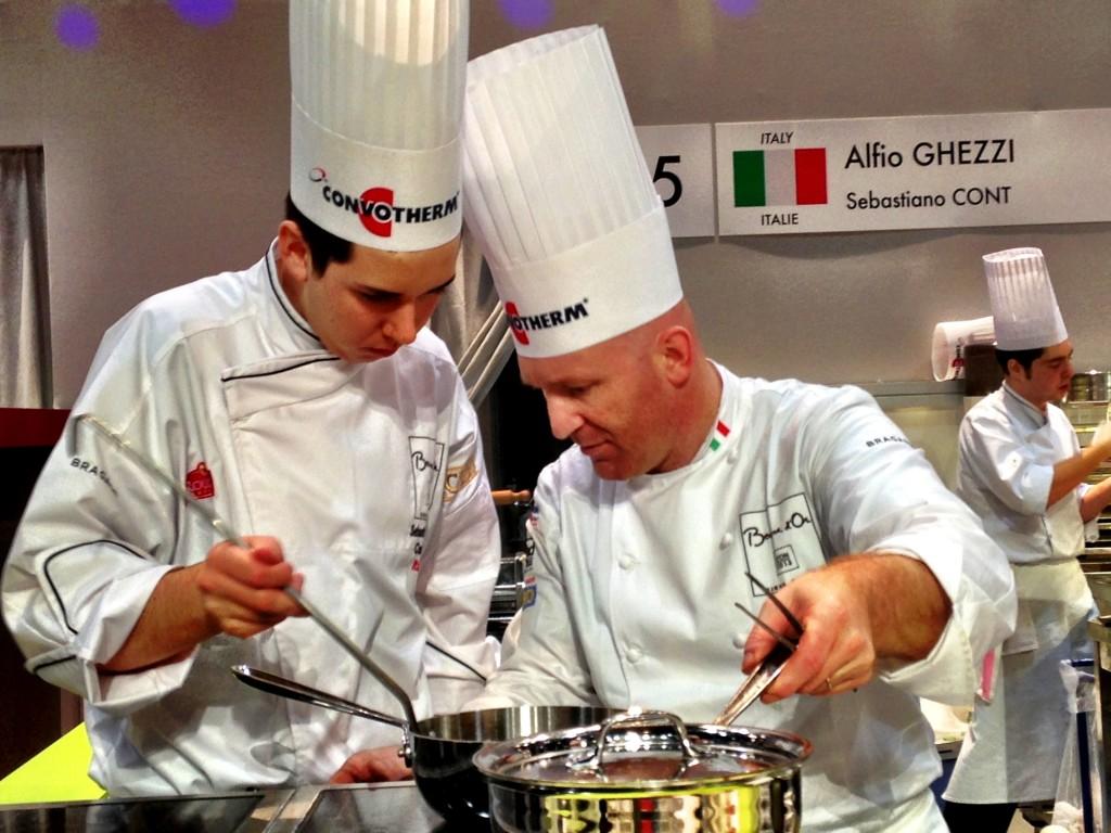 La squadra italiana al Bocuse d'Or: Alfio Ghezzi e Sebastiano Cont