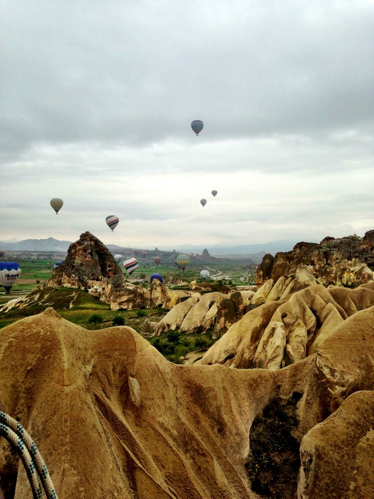 In Cappadocia in Mongolfiera