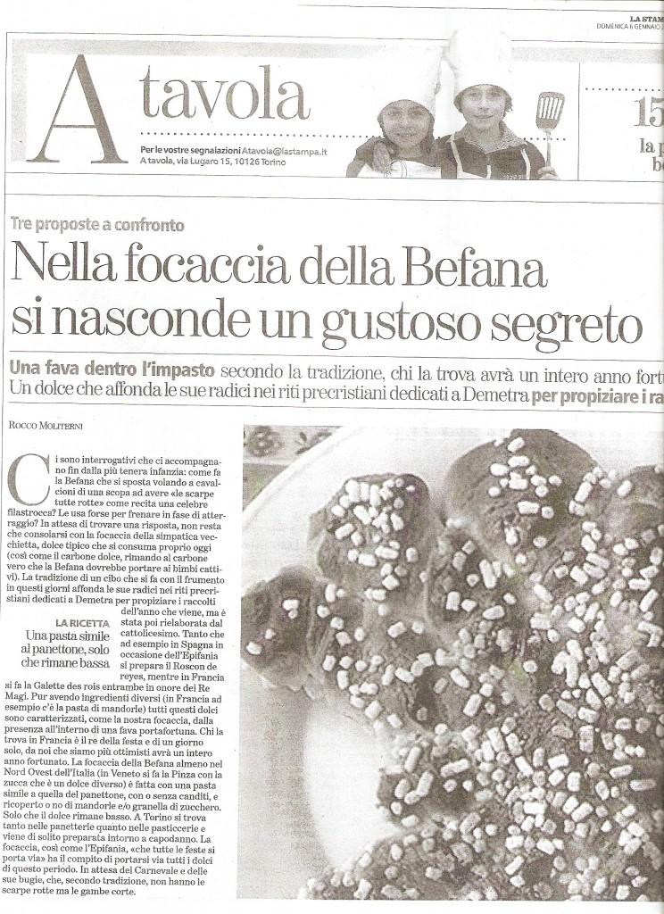 La Stampa 6 Gennaio 2013