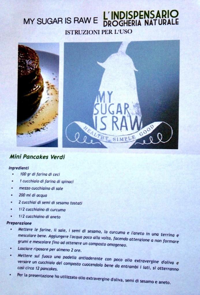 Pancakes verdi vegani by My sugar is raw