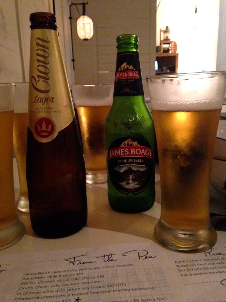 David's Dinner beers