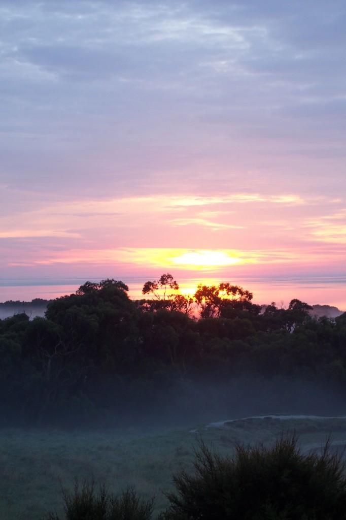 Sunrise at Limosa rise, Australia
