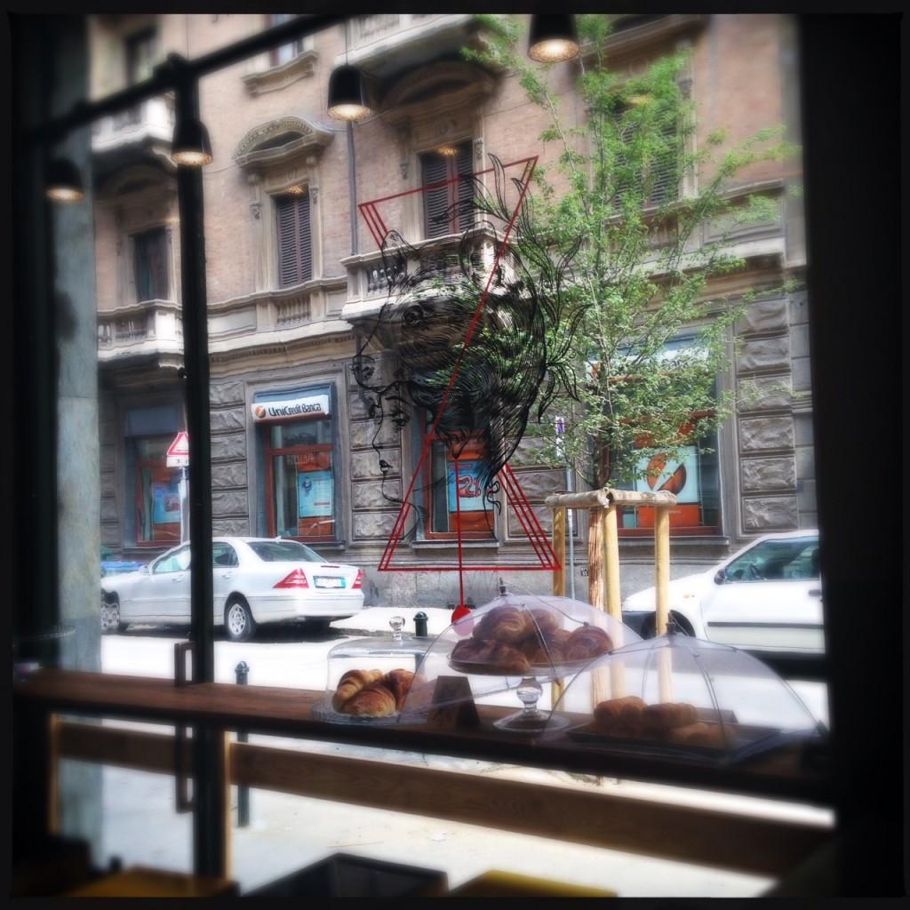 Orso vetrina esterna logo