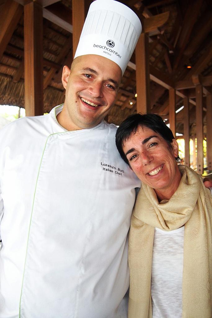 Serena Coda e Lorenzo Buti Chef al ristorante Il Corallo, Trou Aux Biches