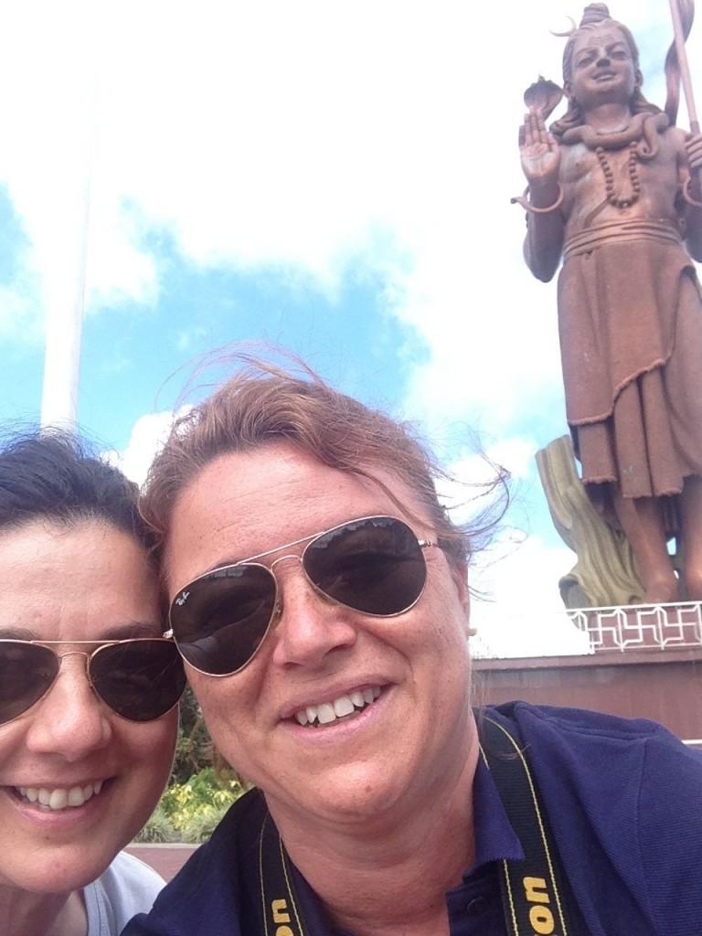 Selfie Shiva con Simona