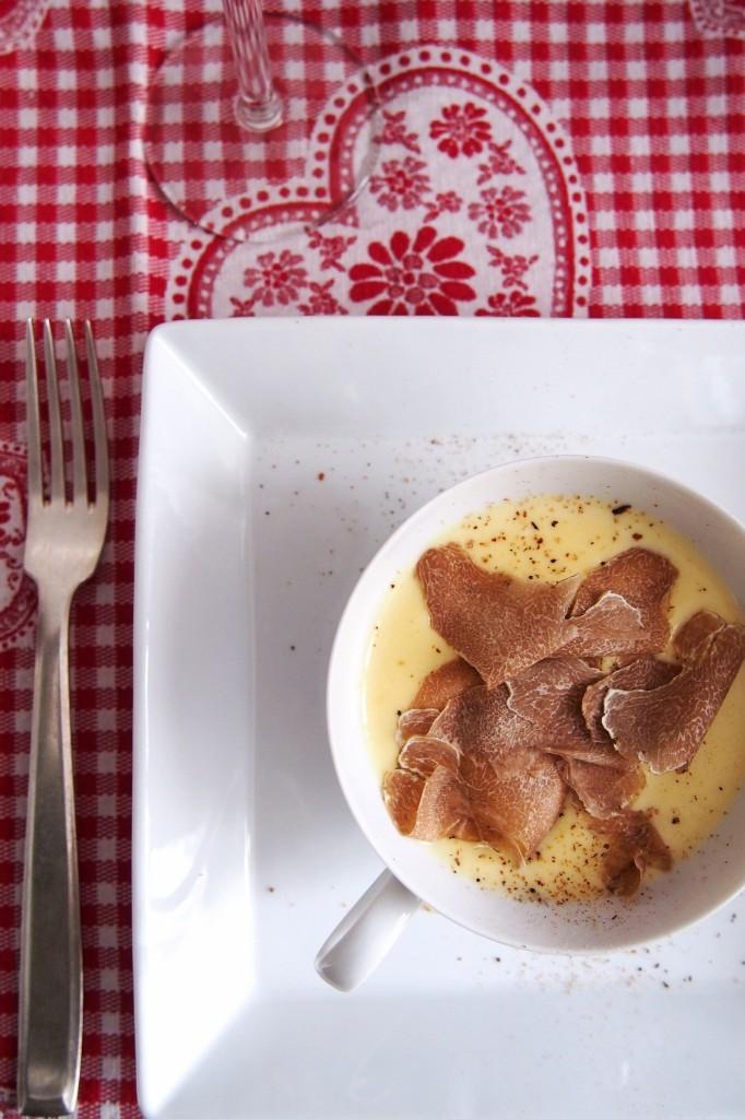 la fonduta e il tartufo bianco