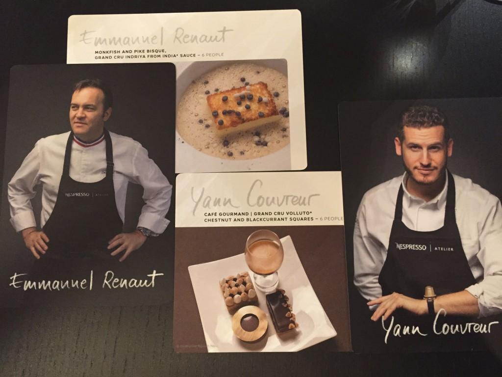 Atelier Nespresso Emmanuel Renaut Yann Couvreur