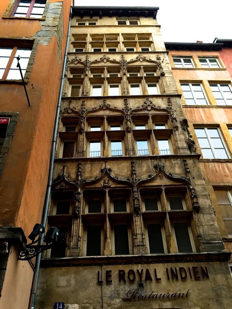 Vieux Lyon particolare palazzo