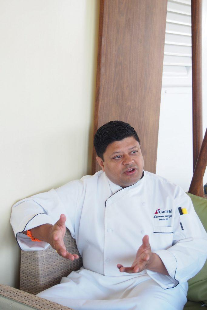 Chef Sommen, Carnival Vista