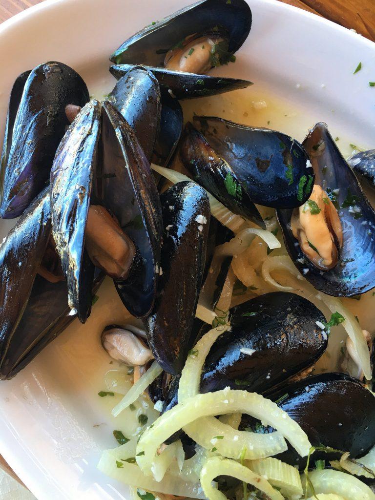 Cozze marinate, Fokos Tavern, Mykonos